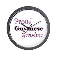 Proud Guyanese Grandma Wall Clock