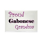 Proud Gabonese Grandma Rectangle Magnet