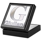 Silver G for Giuliani Keepsake Box