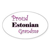Proud Estonian Grandma Oval Decal