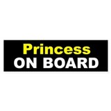 Princess On Board Bumper Car Sticker