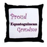 Proud Equatoguinean Grandma Throw Pillow