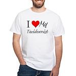 I Heart My Taxidermist White T-Shirt