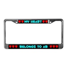 My Heart: Ab (#003) License Plate Frame