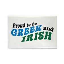 Proud Greek and Irish Rectangle Magnet