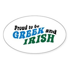Proud Greek and Irish Oval Decal