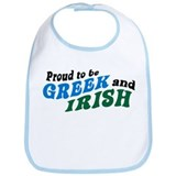 Proud Greek and Irish Bib