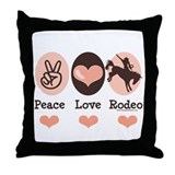 Peace Love Cowboy Rodeo Horse Throw Pillow