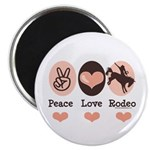 Peace Love Cowboy Rodeo Horse Magnet