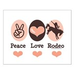 Peace Love Cowboy Rodeo Horse Small Poster