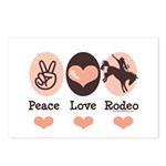 Peace Love Cowboy Rodeo Horse Postcards (Package o