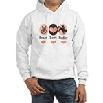 Peace Love Cowboy Rodeo Horse Hooded Sweatshirt