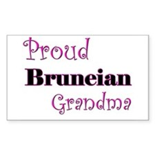 Proud Bruneian Grandma Rectangle Decal