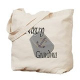 Anchor Navy Grandma Tote Bag