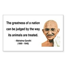Gandhi 10 Rectangle Decal