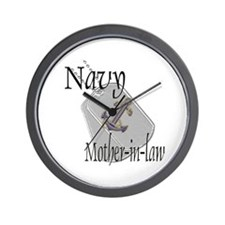 Anchor Navy Mother-in-law Wall Clock
