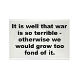 Funny Robert e lee quotation Rectangle Magnet (100 pack)