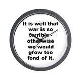 Cute Robert e lee quotation Wall Clock