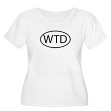 WTD Womens Plus-Size Scoop Neck T