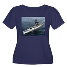USS Missouri Ship's Image Women's Plus Size Scoop