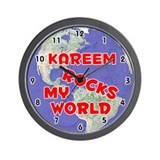 Kareem Rocks My World (Red) Wall Clock