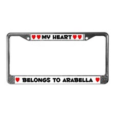 My Heart: Arabella (#004) License Plate Frame
