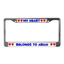 My Heart: Abiah (#005) License Plate Frame
