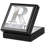 Silver R for Mitt Romney Keepsake Box