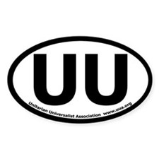 UU Bumper Oval Sticker with UUA text