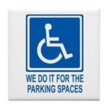 Handicapped Parking Tile Coaster
