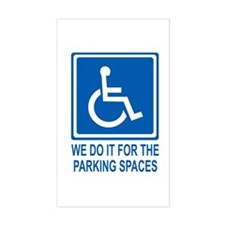 Handicapped Parking Rectangle Decal
