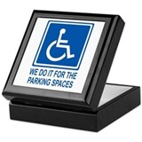 Handicapped Parking Keepsake Box