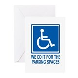Handicapped Parking Greeting Cards (Pk of 10)