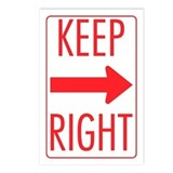 Keep Right Postcards (Package of 8)