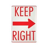 Keep Right Rectangle Magnet
