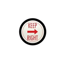Keep Right Mini Button