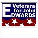 Veterans for John Edwards Yard Sign