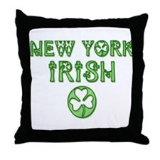 New York Irish Throw Pillow