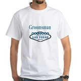 Vegas Blue Wedding Groomsman Shirt
