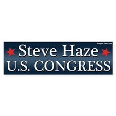Steve Haze for Congress bumper sticker
