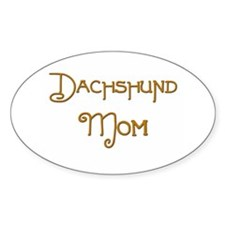 Dachshund Mom 1 Oval Decal