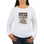 Dodge City Gun Notice Women's Long Sleeve T-Shirt
