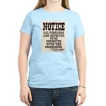 Dodge City Gun Notice Women's Light T-Shirt