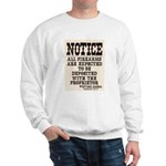 Dodge City Gun Notice Sweatshirt