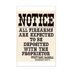 Dodge City Gun Notice Mini Poster Print