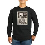 Dodge City Gun Notice Long Sleeve Dark T-Shirt