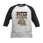 Dodge City Gun Notice Kids Baseball Jersey