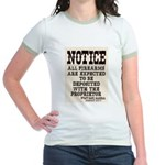 Dodge City Gun Notice Jr. Ringer T-Shirt