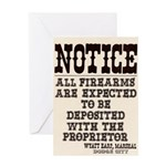 Dodge City Gun Notice Greeting Card