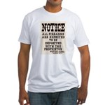 Dodge City Gun Notice Fitted T-Shirt